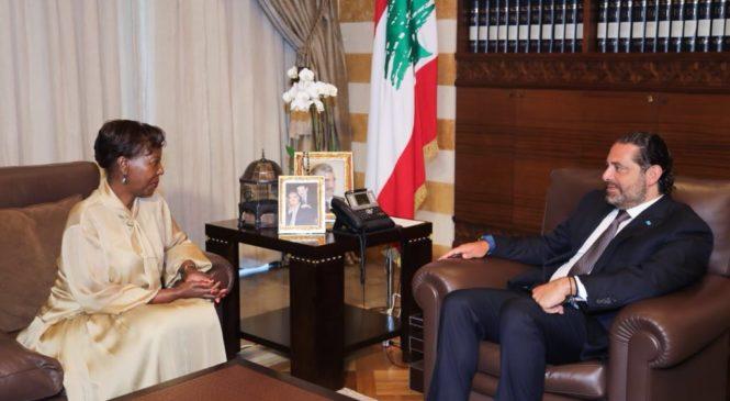 Louise Mushikiwabo yagiranye ibiganiro na Minisiteri w'intebe wa Liban