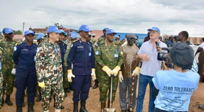 Abapolisi n'Ingabo z'u Rwanda bakoze umuganda rusange muri Sudani y'Epfo