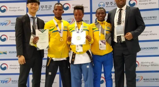 Imikino ya 2019 Korean Ambassador's Cup Taekwondo World Championship u Rwanda ku mwanya wa gatatu