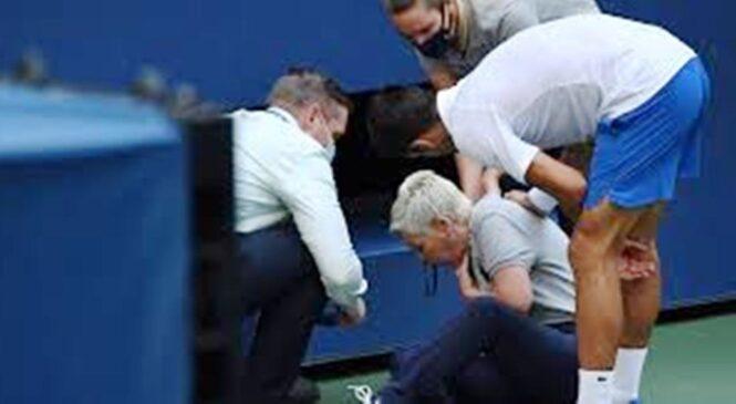 Novak Djokovic yasezerewe muri US Open nyuma y'impamuka yo gutera agapira umukomiseri w'umurongo