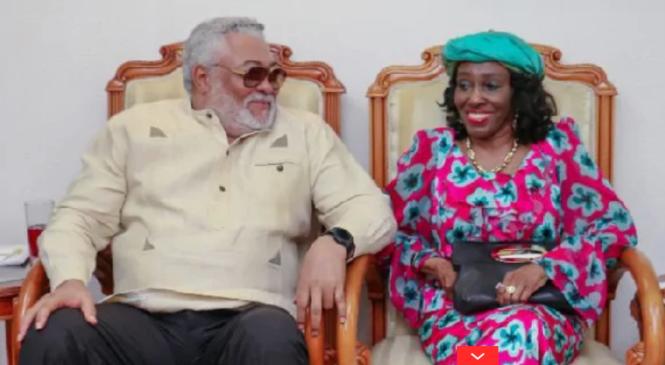 Amafoto ya Jerry J Rawlings n'umugore we Nana Konadu agaragaza ko babaga barikumwe