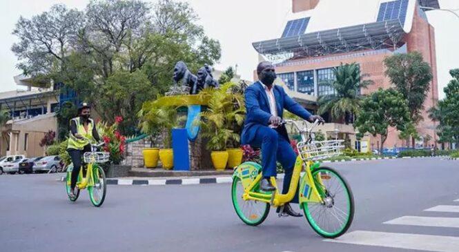 Umushinga watangijwe wo kugenda ku  igare mu Mujyi wa Kigali