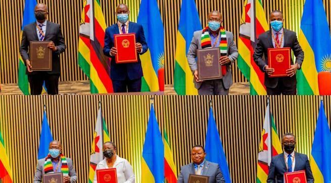 U Rwana na Zimbabwe mu masezerano y'ubufatanye mu nzego zinyuranye